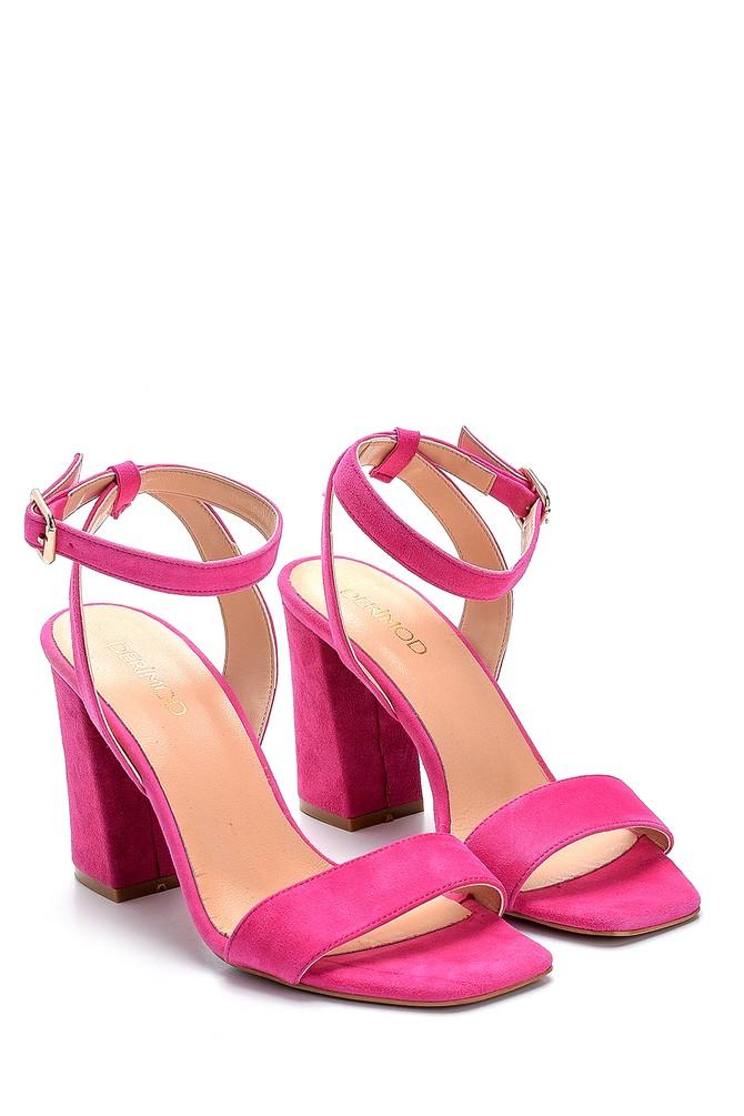 5638291512 Kadın Süet Yüksek Topuklu Sandalet