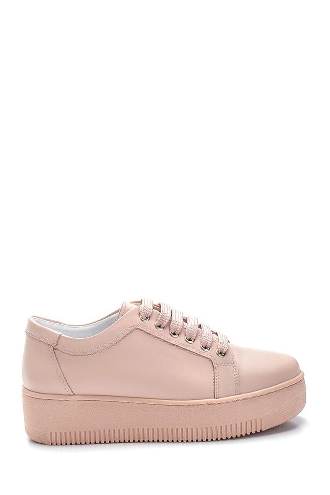 Pudra Kadın Deri Sneaker 5638292391
