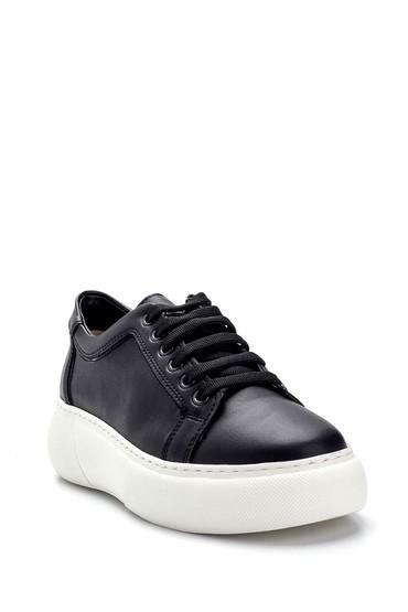 Siyah Kadın Yüksek Tabanlı Sneaker 5638292448