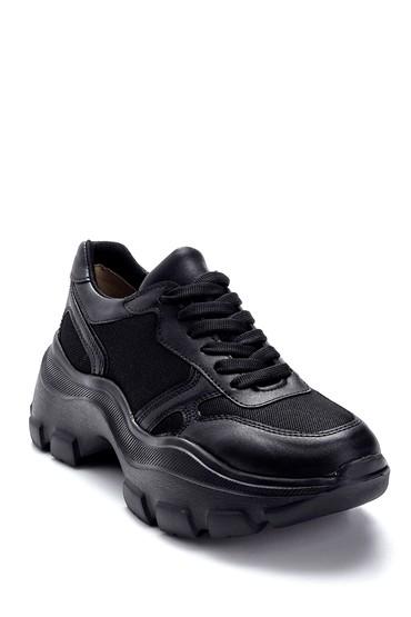 Siyah Kadın Yüksek Tabanlı Sneaker 5638292487