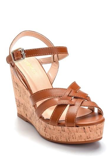 Taba Kadın Deri Dolgu Topuk Sandalet 5638297517