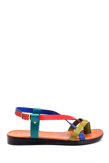 Multi Renk Kadın Deri Sandalet 5638255394