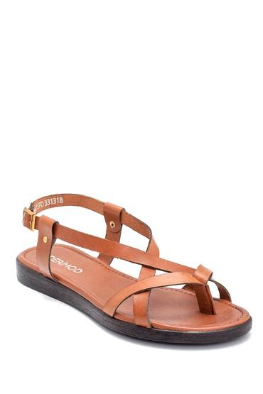 Taba Kadın Deri Sandalet 5638255388