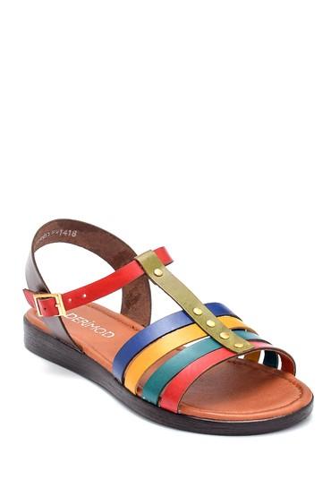 Multi Renk Kadın Deri Sandalet 5638255423