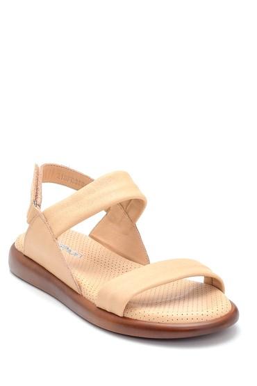 Bej Kadın Deri Sandalet 5638268234