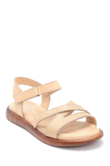 Bej Kadın Deri Sandalet 5638268253