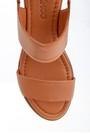 5638268347 Kadın Deri Kalın Tabanlı Sandalet