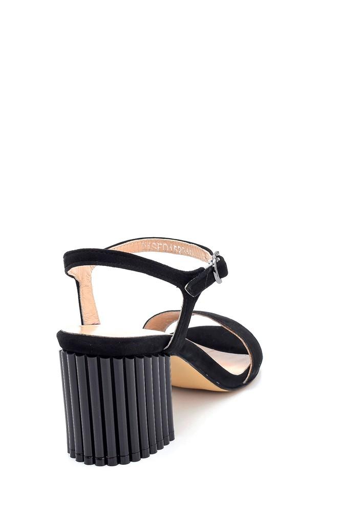 5638260901 Kadın Süet Topuklu Sandalet