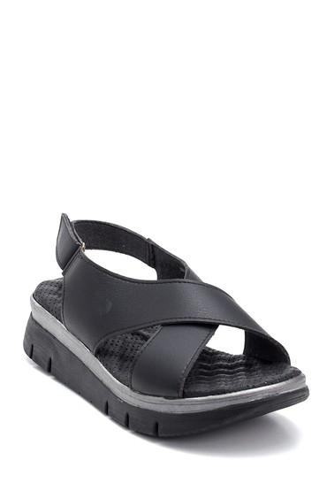 Siyah Kadın Bantlı Sandalet 5638277597