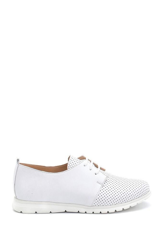 Beyaz Kadın Deri Ayakkabı 5638276120