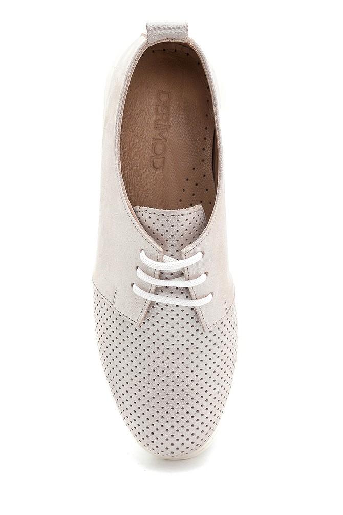 5638276138 Kadın Deri Sim Detaylı Ayakkabı