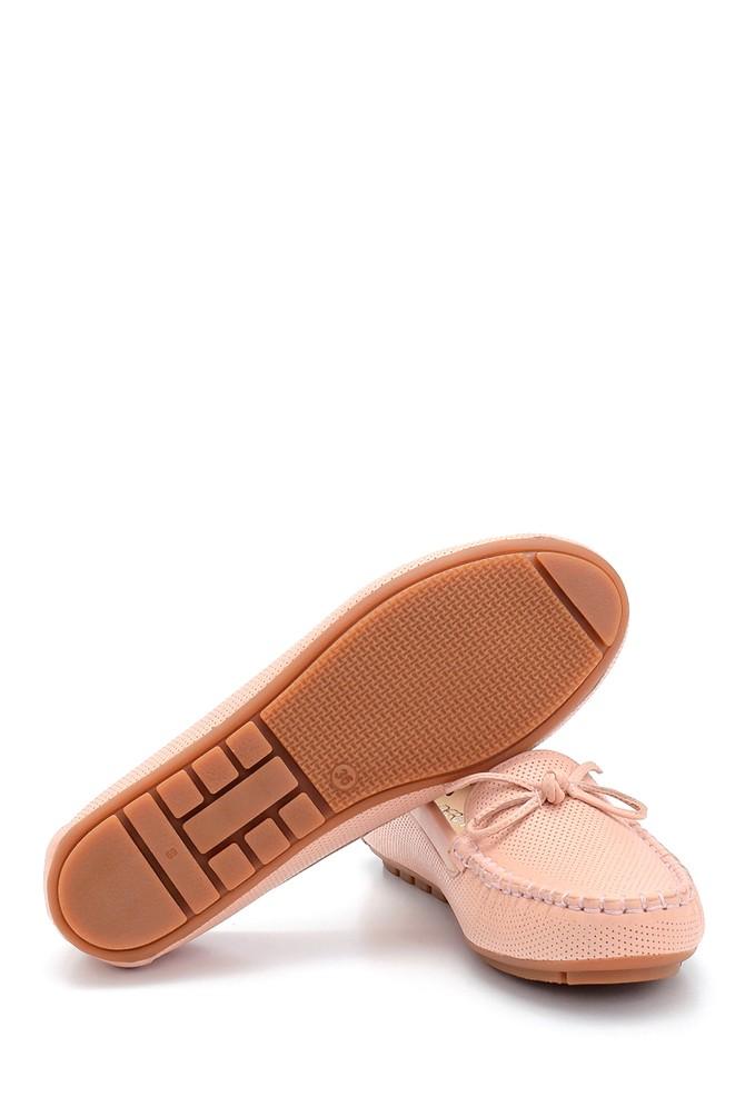 5638292195 Kadın Deri Fiyonk Detaylı Loafer
