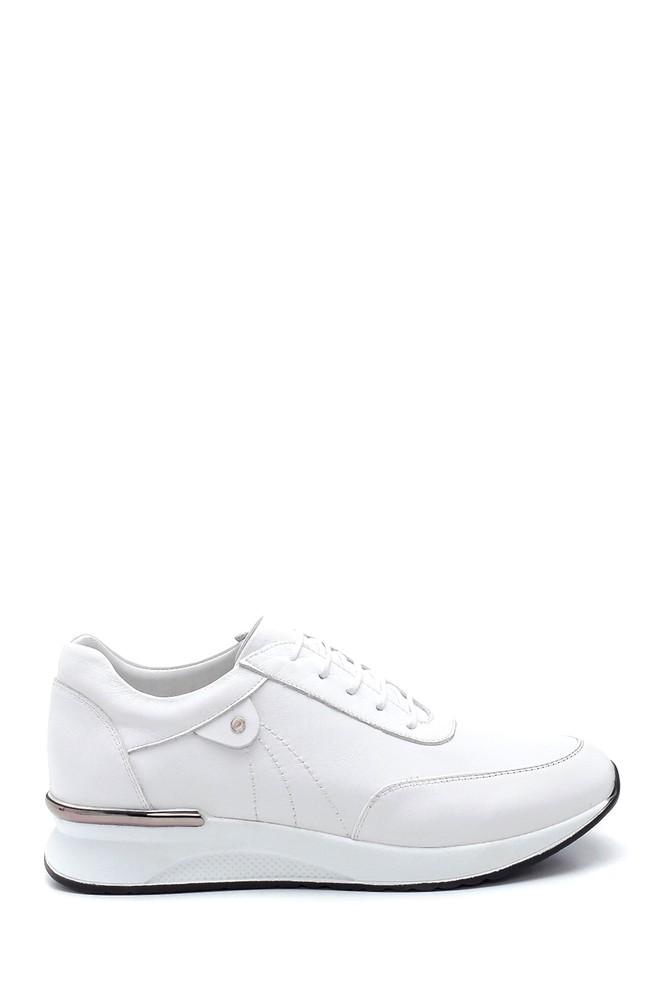 Beyaz Kadın Deri Sneaker 5638291405