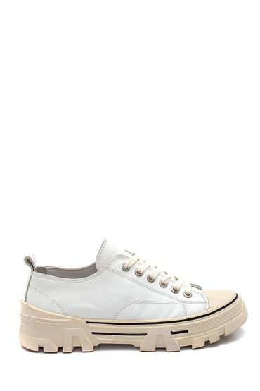 Beyaz Kadın Deri Sneaker 5638292265