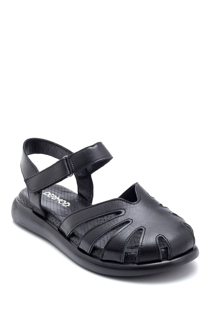 5638268310 Kadın Deri Bantlı Sandalet