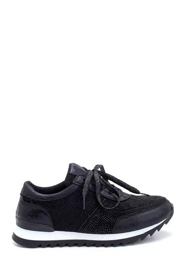 Siyah Kadın Dantel Detaylı Sneaker 5638294371