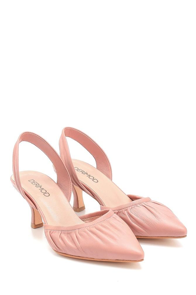 5638280790 Kadın Deri Topuklu Sandalet