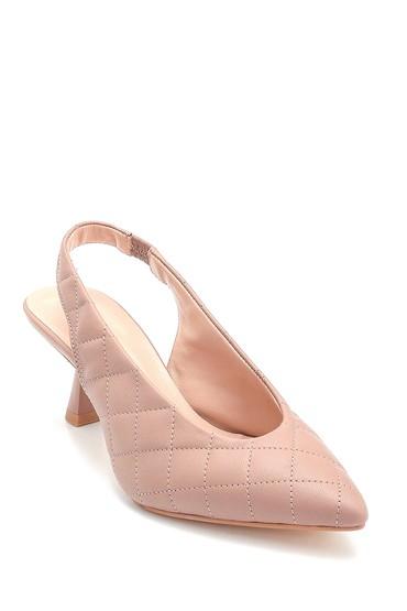 Bej Kadın Deri Kapitone Detaylı Ayakkabı 5638280809