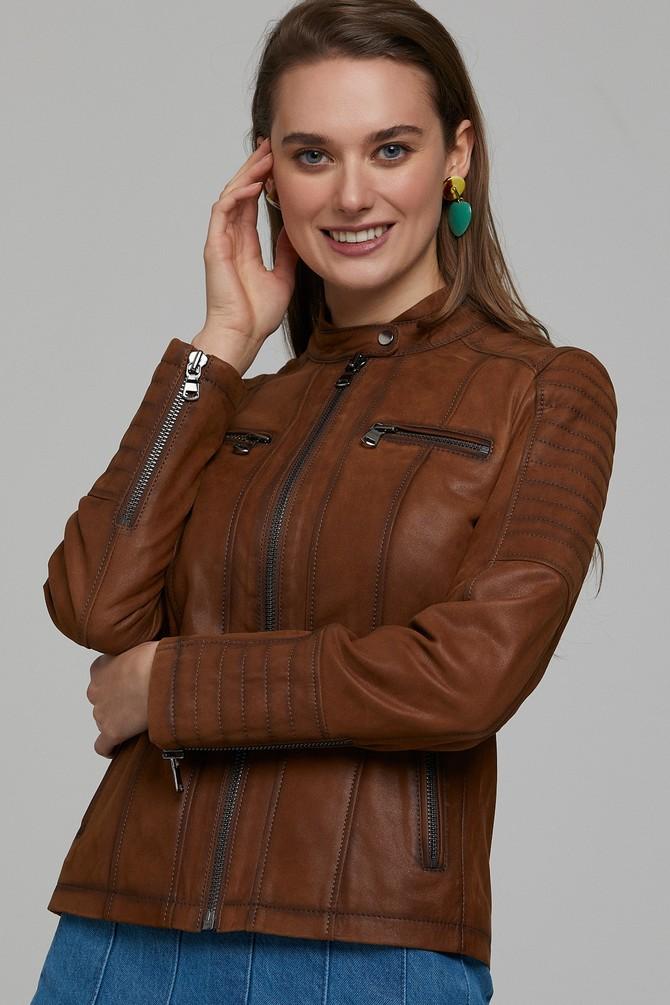 5638114588 Gala Kadın Deri Ceket