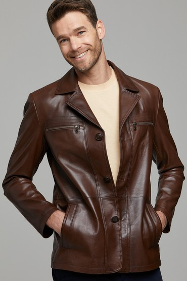 Kahverengi Jeremy Erkek Deri Ceket 5638116874