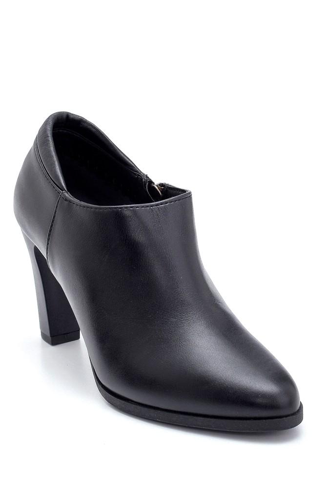 Siyah Kadın Kalın Topuklu Bootie 5638213131