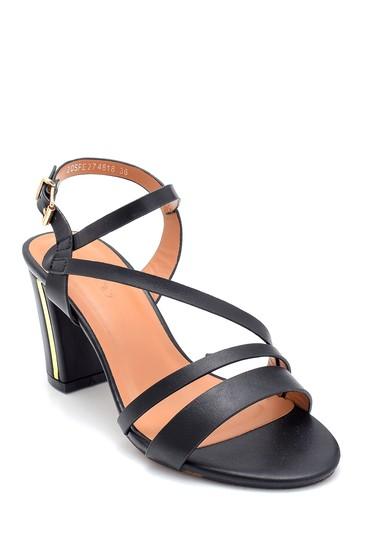 Siyah Kadın Topuklu Sandalet 5638262514