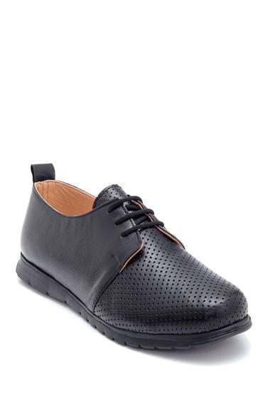 Siyah Kadın Deri Ayakkabı 5638276119