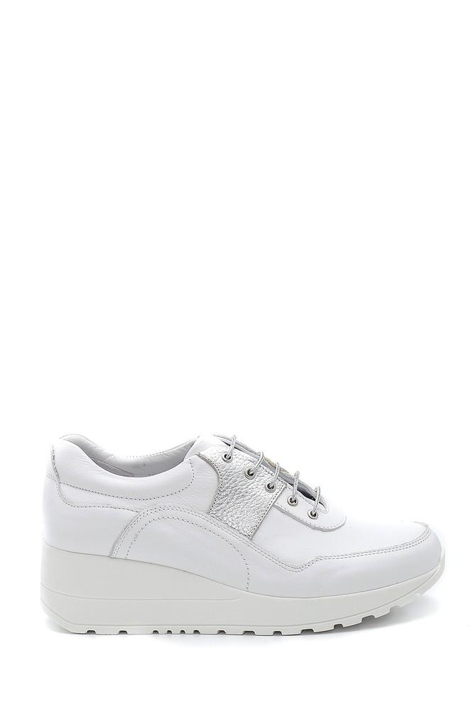 Beyaz Kadın Deri Sneaker 5638291438