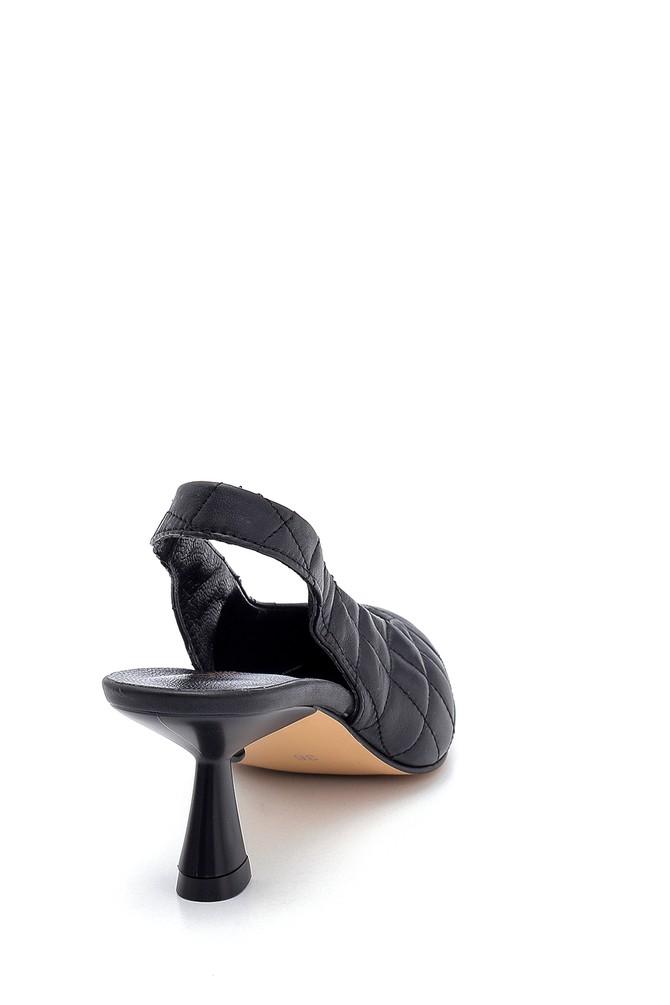 5638280810 Kadın Deri Kapitone Detaylı Ayakkabı