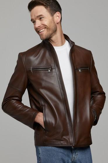 Kahverengi Cody Erkek Deri Ceket 5638305839