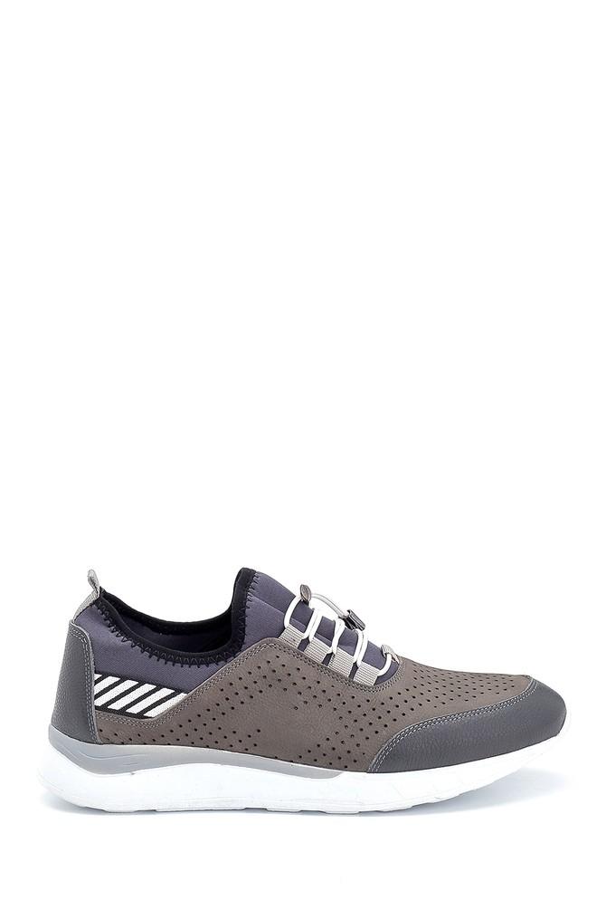 Gri Erkek Deri Sneaker 5638254627