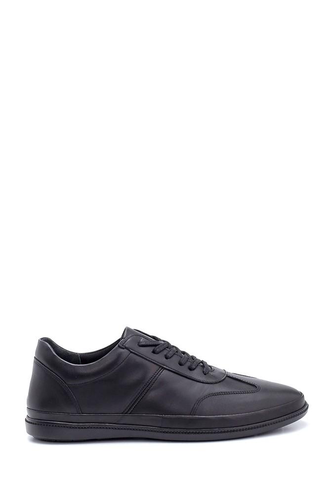 Siyah Erkek Deri Sneaker 5638254663