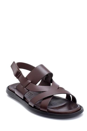 Kahverengi Erkek Deri Sandalet 5638254888