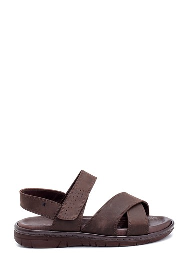 Kahverengi Erkek Nubuk Bantlı Sandalet 5638254987