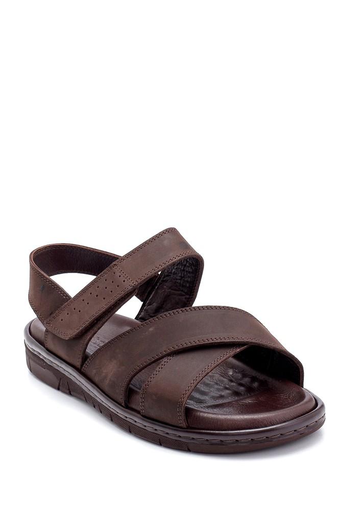 5638254987 Erkek Nubuk Bantlı Sandalet