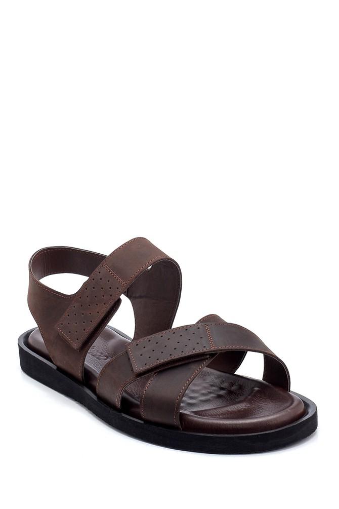 5638255018 Erkek Nubuk Bantlı Sandalet