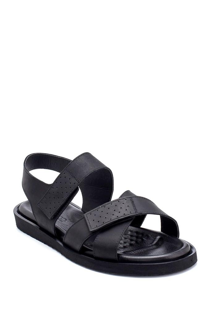 5638255016 Erkek Nubuk Bantlı Sandalet