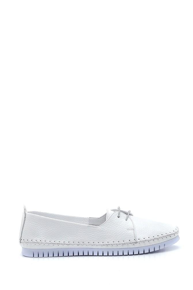 Beyaz Kadın Deri Casual Ayakkabı 5638265414