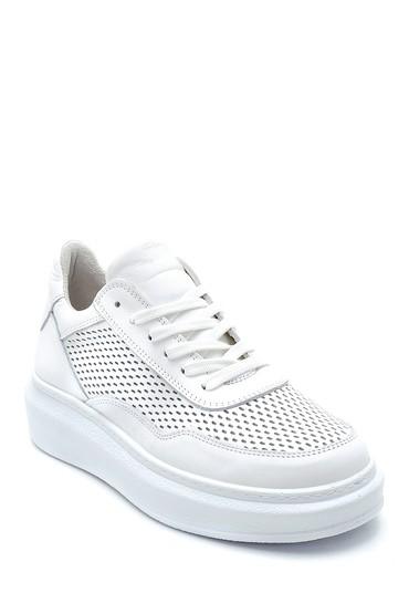 Beyaz Kadın Deri Sneaker 5638273029