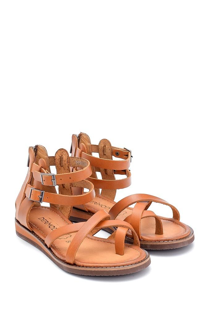 5638273423 Kadın Deri Sandalet