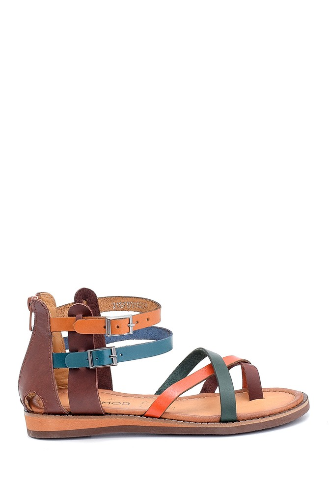 Multi Renk Kadın Deri Sandalet 5638273425