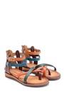 5638273425 Kadın Deri Sandalet