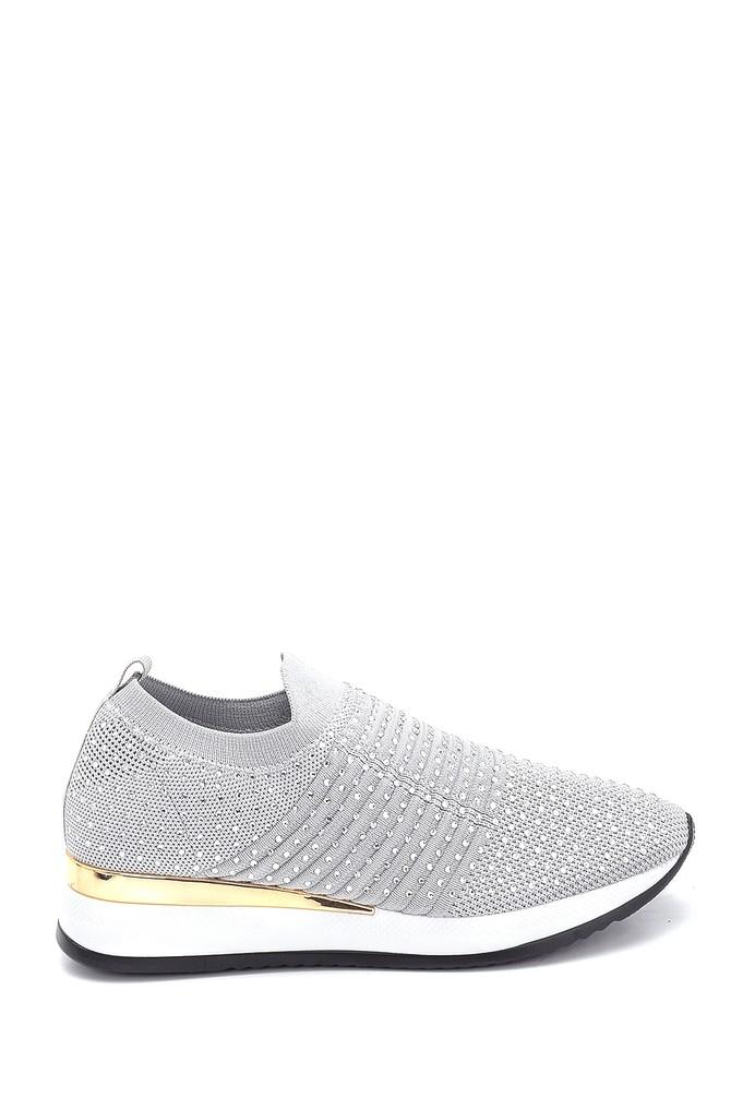 5638257610 Kadın Çorap Taş Detaylı Sneaker