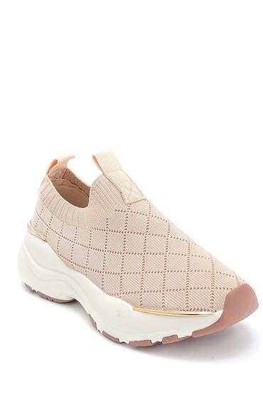 Bej Kadın Çorap Desenli Sneaker 5638266575