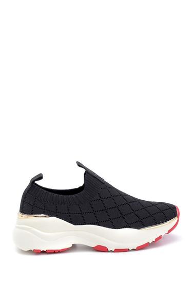 Siyah Kadın Çorap Desenli Sneaker 5638266580