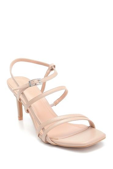 Bej Kadın Topuklu Sandalet 5638268431