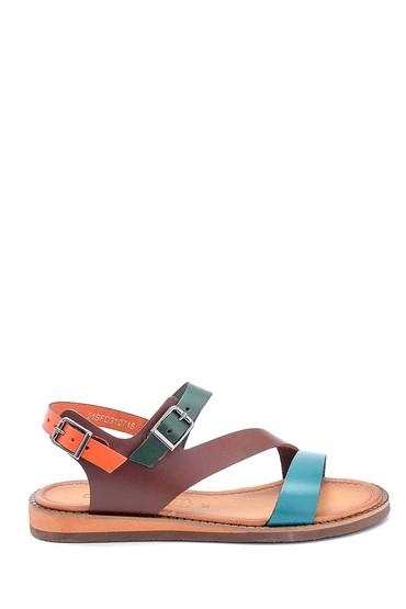 Multi Renk Kadın Deri Toka Detaylı Sandalet 5638283880