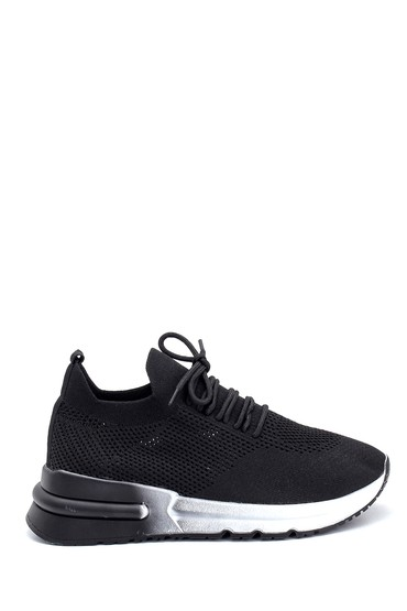 Siyah Kadın Çorap Sneaker 5638285391