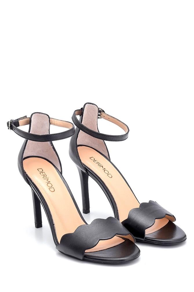 5638291493 Kadın Deri Topuklu Ayakkabı