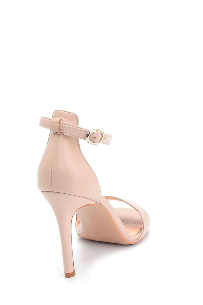 5638291491 Kadın Deri Topuklu Ayakkabı